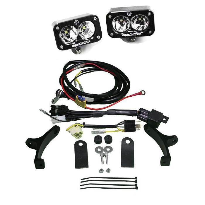 498003 Baja Designs Triumph Tiger 800XC LED Adventure Bike Kit Squadron Pro Kit Black