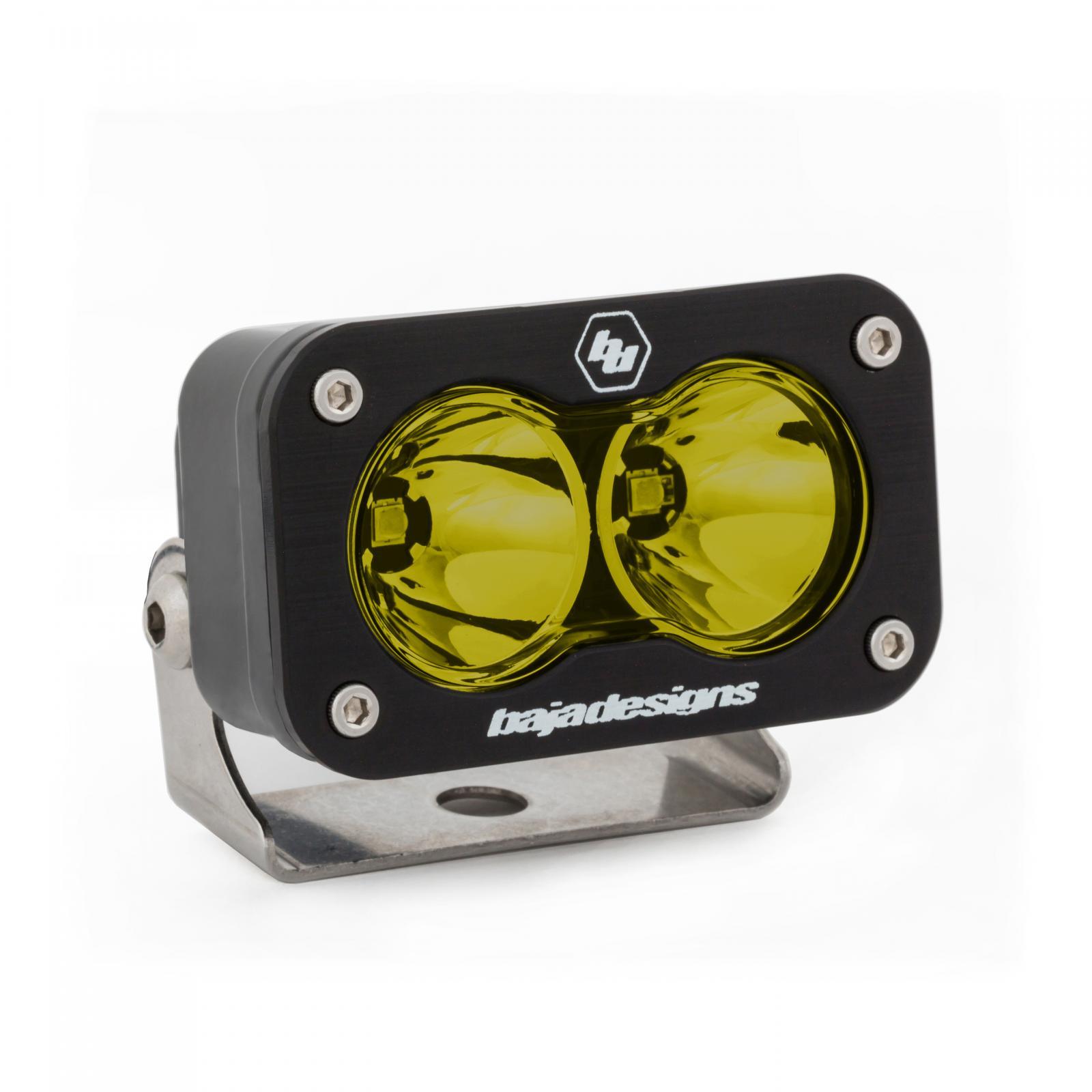 Baja Designs LED Work Light Amber Lens Spot Pattern Each S2 Sport