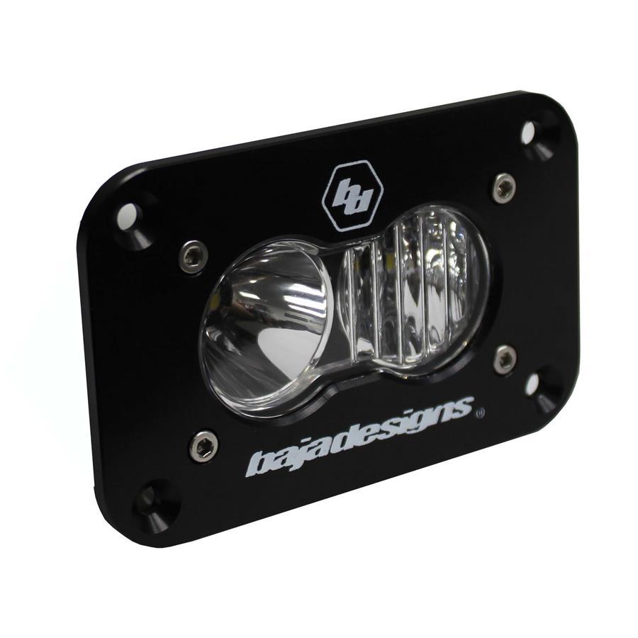 Baja Designs LED Work Light Clear Lens Driving Combo Pattern Flush Mount Each S2 Sport