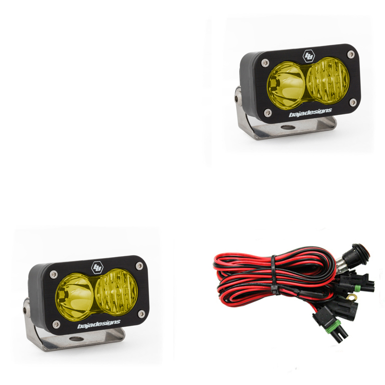 547813 Baja Designs S2 Sport Pair Driving / Combo LED Amber, Black