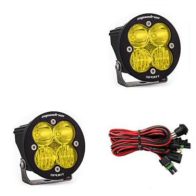 587813 Baja Designs Squadron-R Sport, Pair Driving / Combo Amber LED