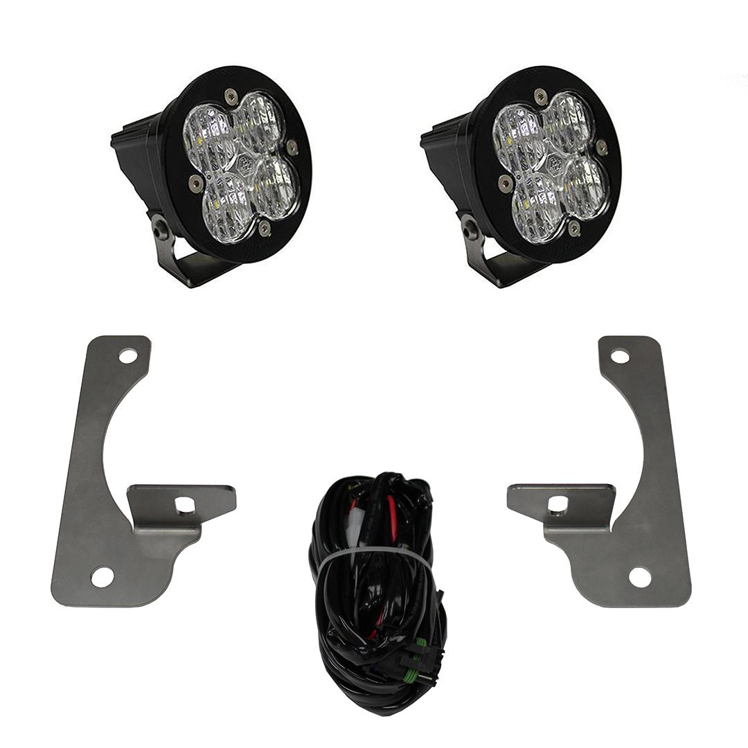 597523 Baja Designs Jeep JK LED Light Kit 13-16 JK Rubicon X/10th Anne/Hard Rock Squadron-R Pro Kit Black