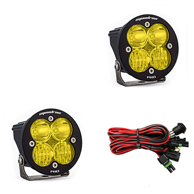 597813 Baja Designs Squadron-R Pro, Pair Driving / Combo Amber LED