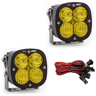 677813 Baja Designs LED Light Pods Amber Lens Driving Combo Pattern Pair XL80 Series Pair Black