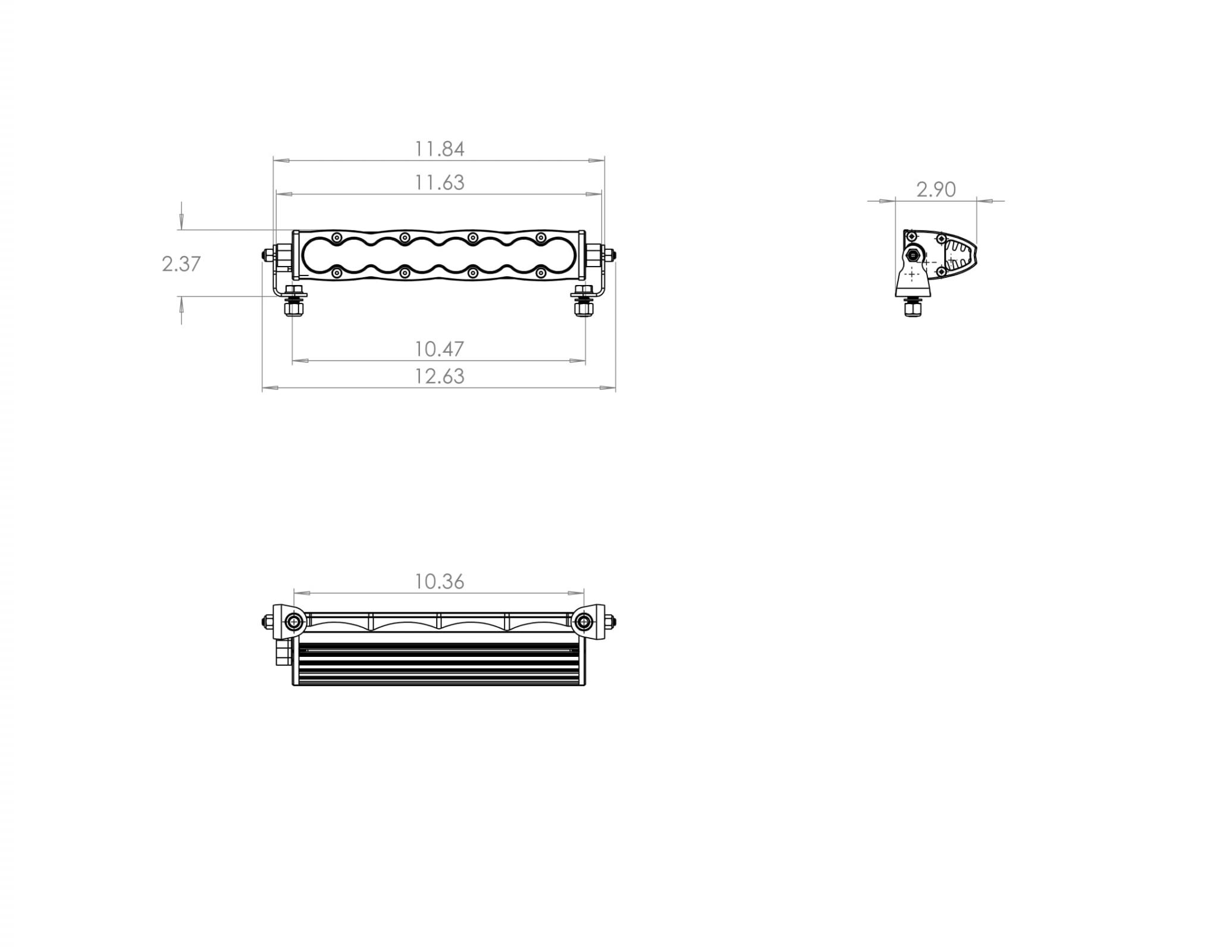 701003 Baja Designs S8 10 Inch LED Light Bar Driving / Combo Each