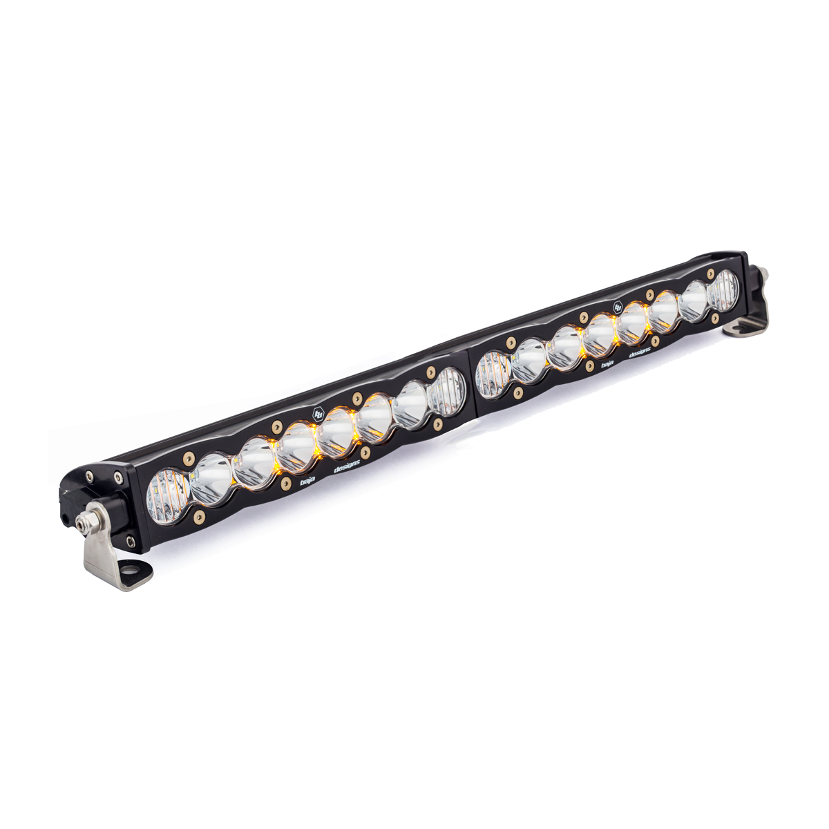 702003 Baja Designs 20 Inch LED Light Bar Single Straight Driving Combo Pattern S8 Series Each Black