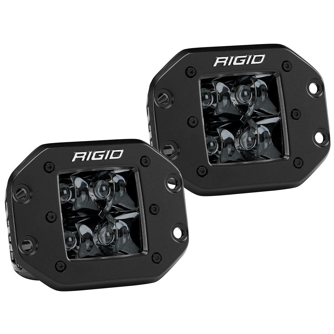 Spot Flush Mount Midnight Pair D-Series Pro RIGID Industries
