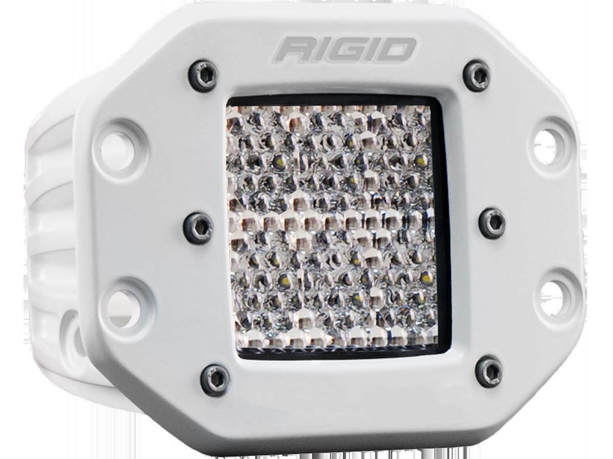 Hybrid Diffused Flush Mount White Housing D-Series Pro RIGID Industries