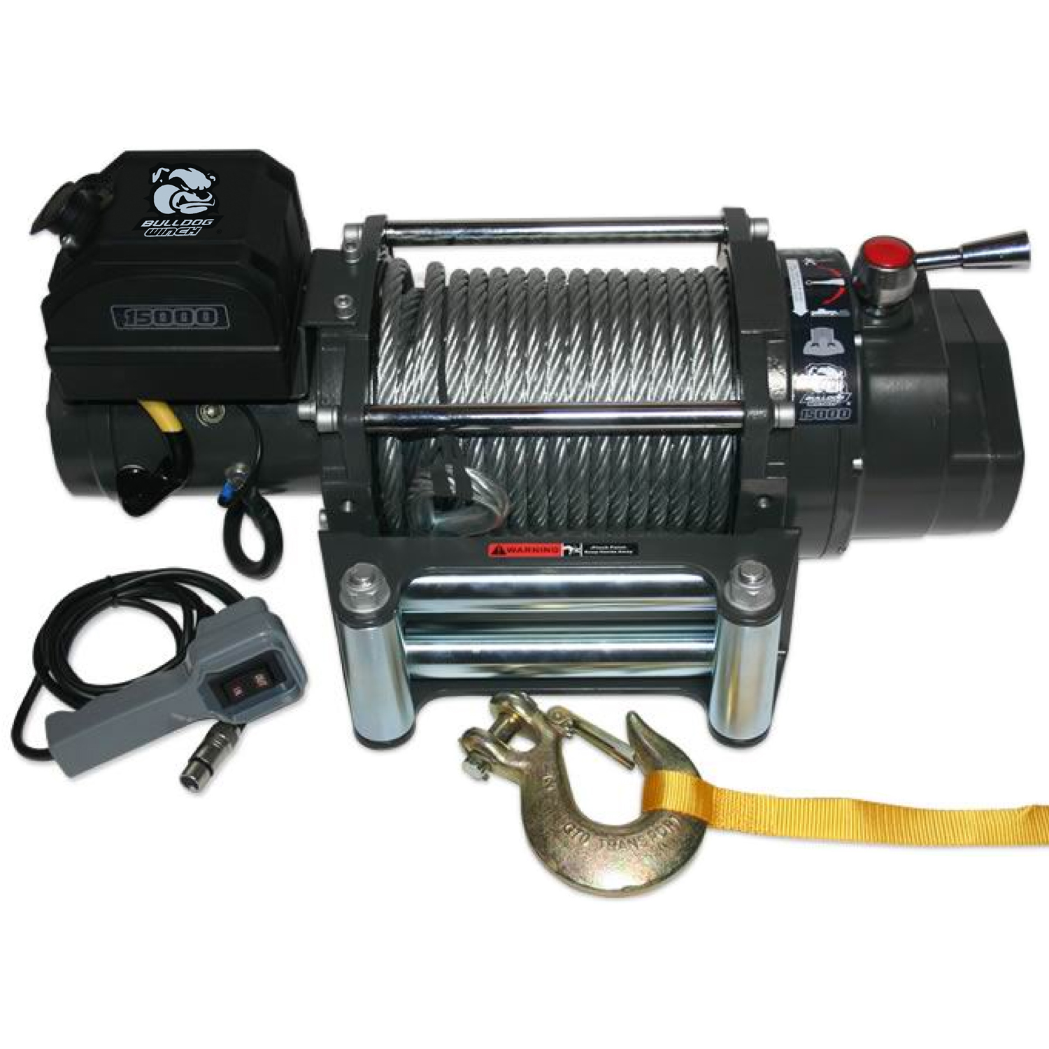 Bulldog Winch 15000 LB HD Truck Winch