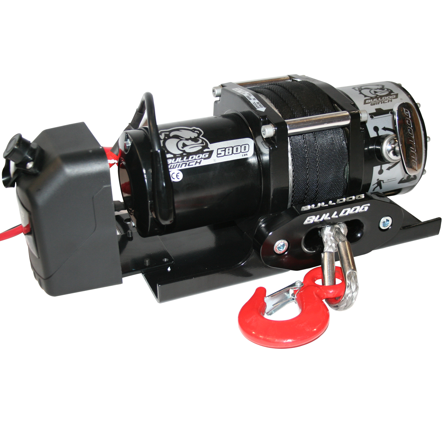 Bulldog Winch 5,800lb Trailer Winch w/ 50ft Synthetic Rope