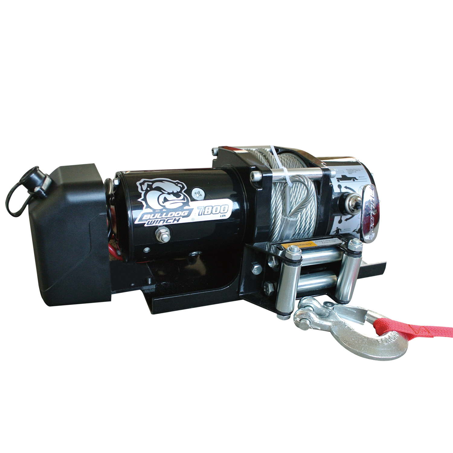 Bulldog Winch 7,800lb Trailer Winch w/ 47.5ft Wire Rope