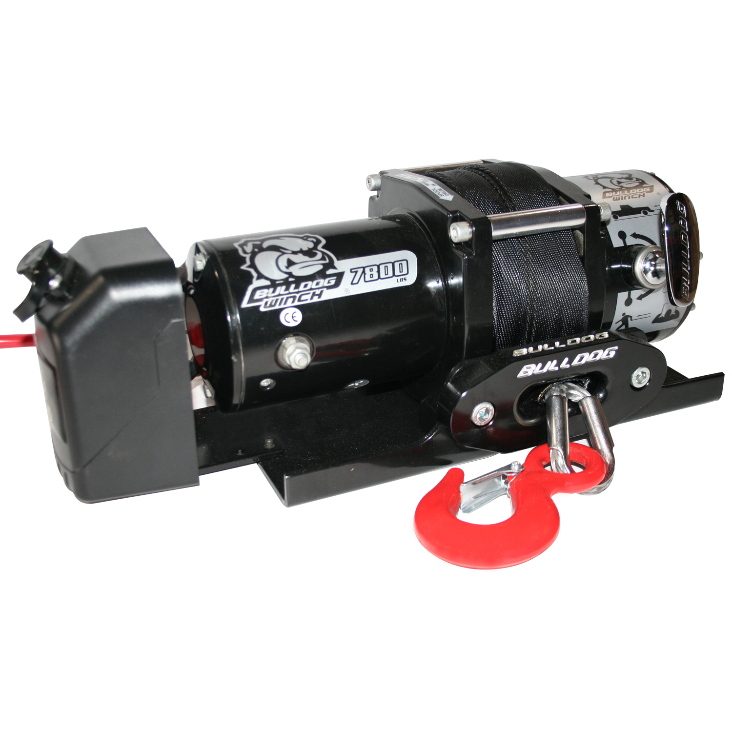Bulldog Winch 7,800lb Trailer Winch w/ 50ft Synthetic Rope