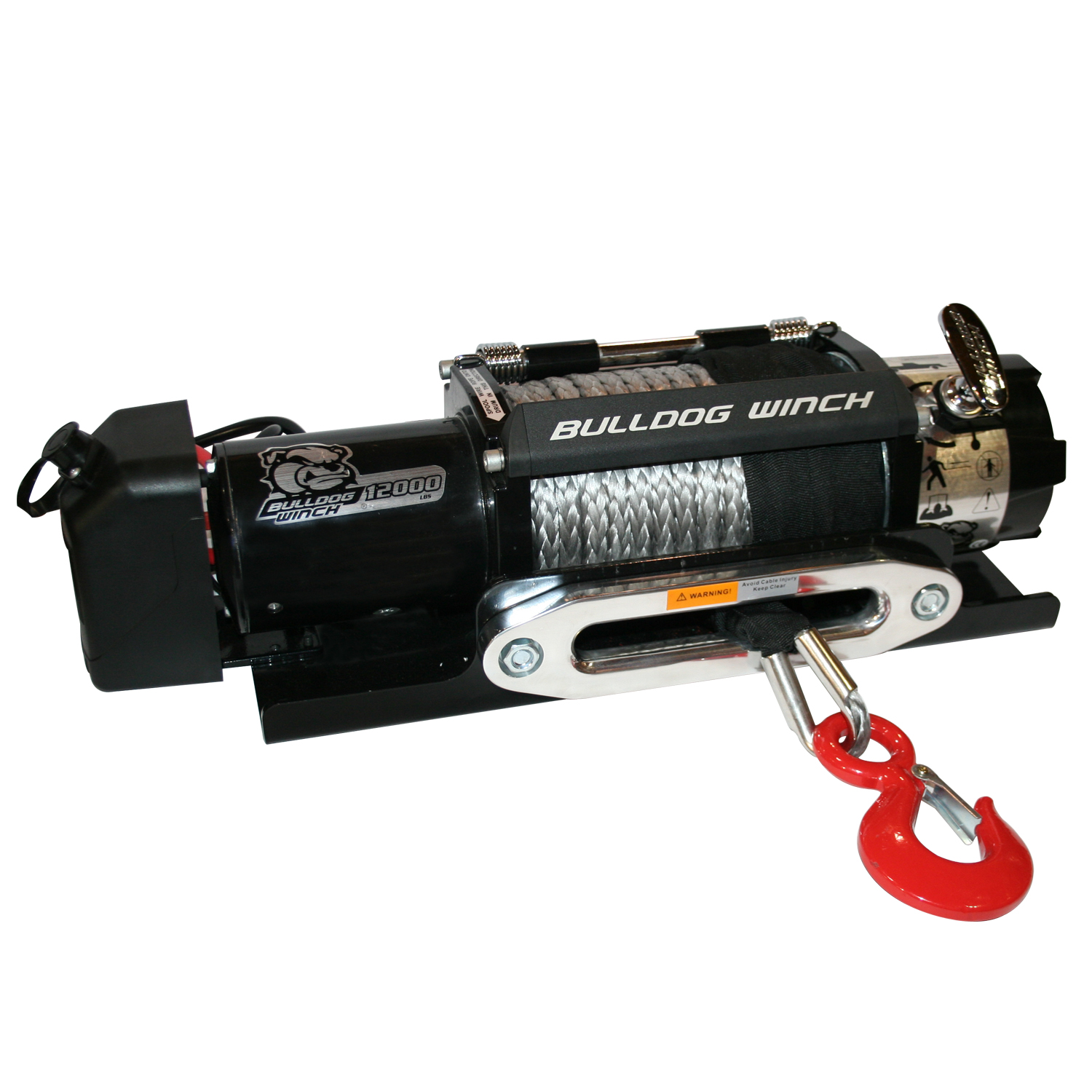 Bulldog Winch 12,000lb Trailer Winch w/ Synthetic Rope