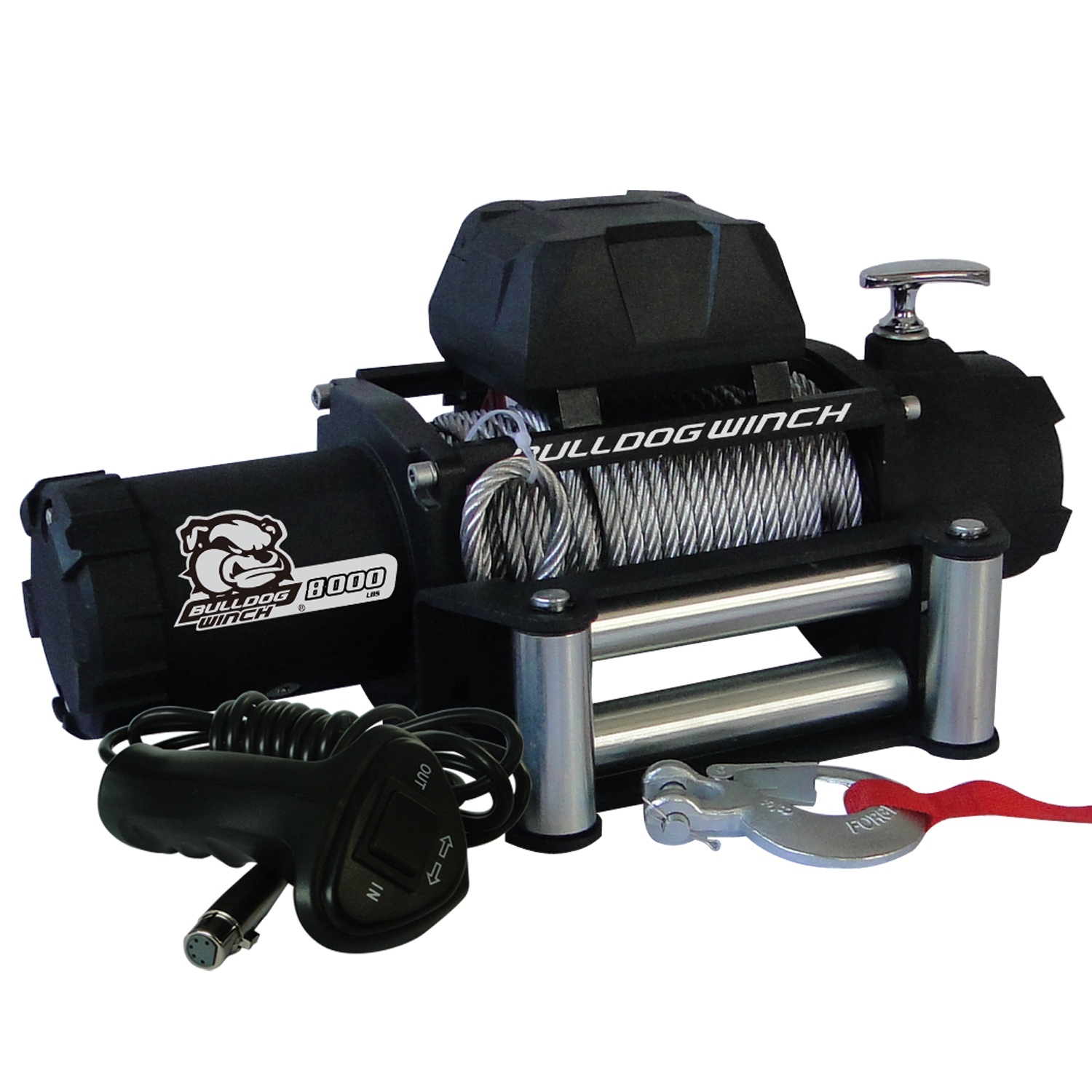 Bulldog Winch 8,000lb Winch w/ Wire Rope