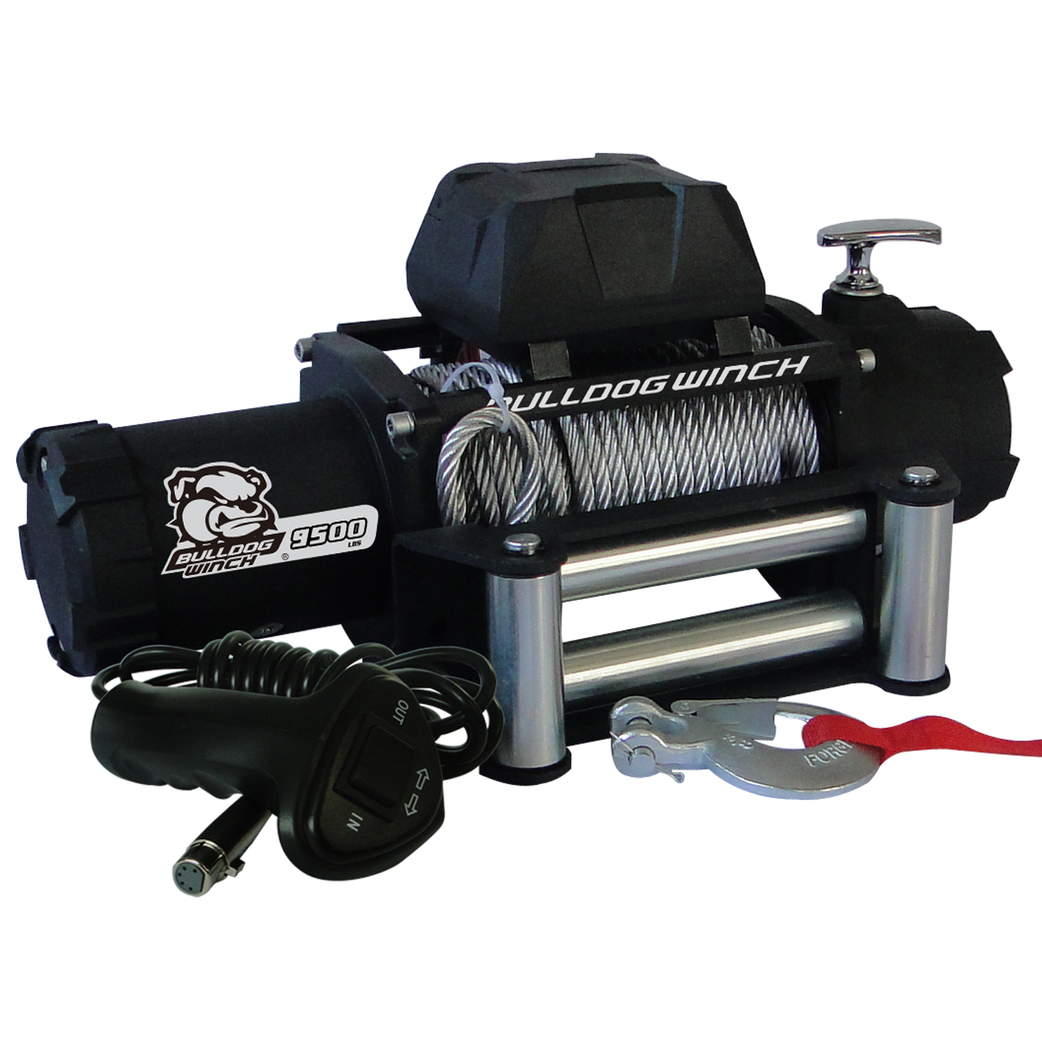 Bulldog Winch 9,500lb Winch w/ Wire Rope