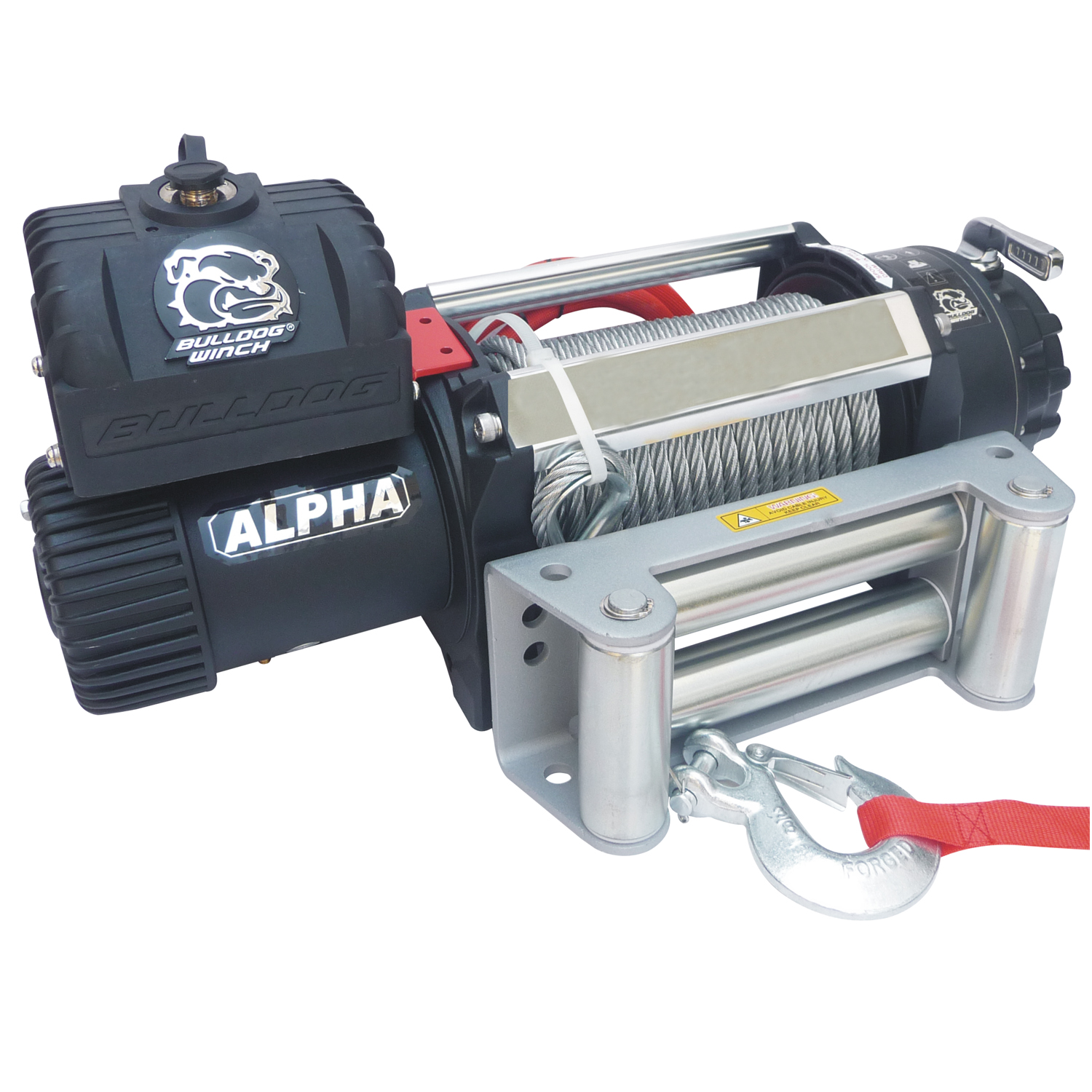 Bulldog Winch 15,000lb Alpha Truck Winch w/ Wire Rope