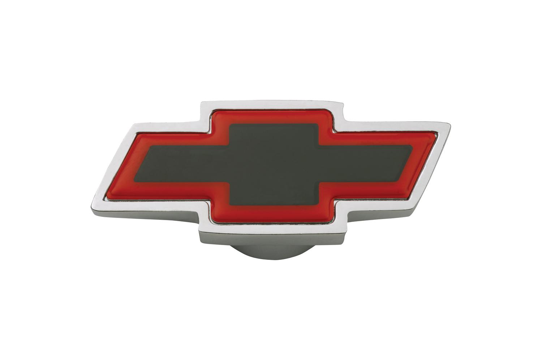 Proform Air Cleaner Center Nut Bowtie Large Large Chevy Bowtie Chrome/Red/Black Chevrolet Performance Parts
