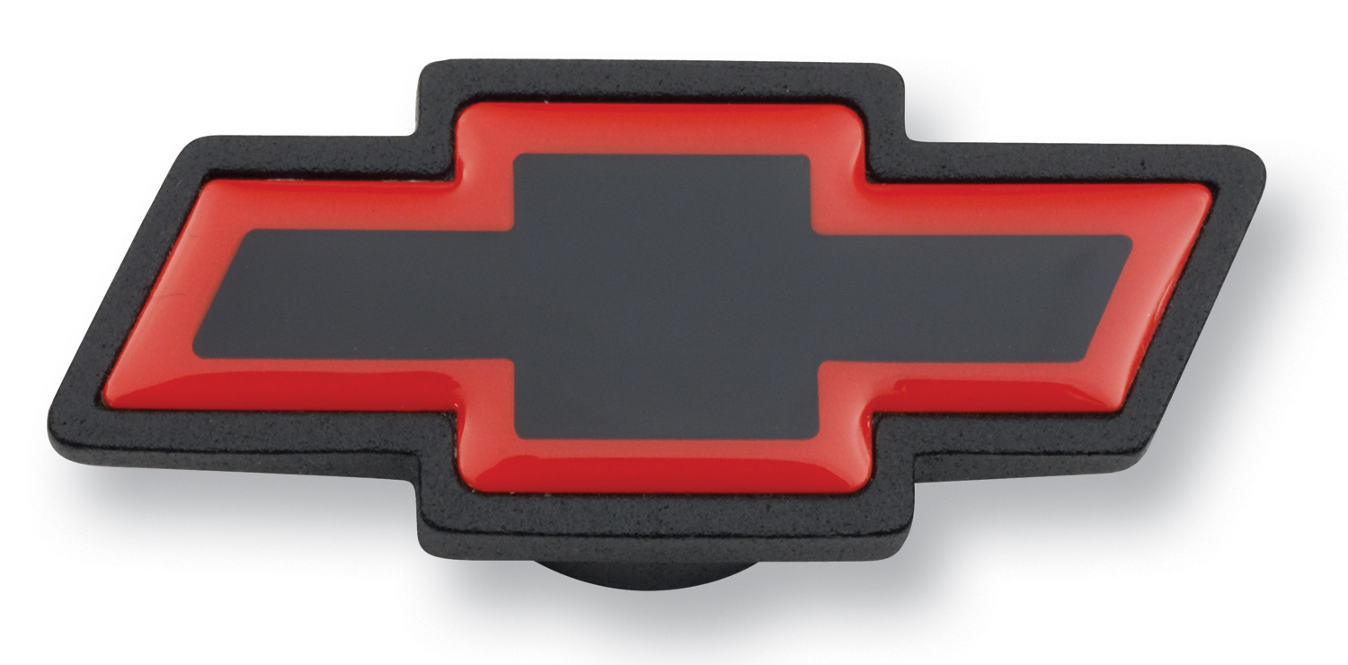 Proform Air Cleaner Center Nut Bowtie Large Large Chevy Bowtie Black Crinkle/Red Chevrolet Performance Parts