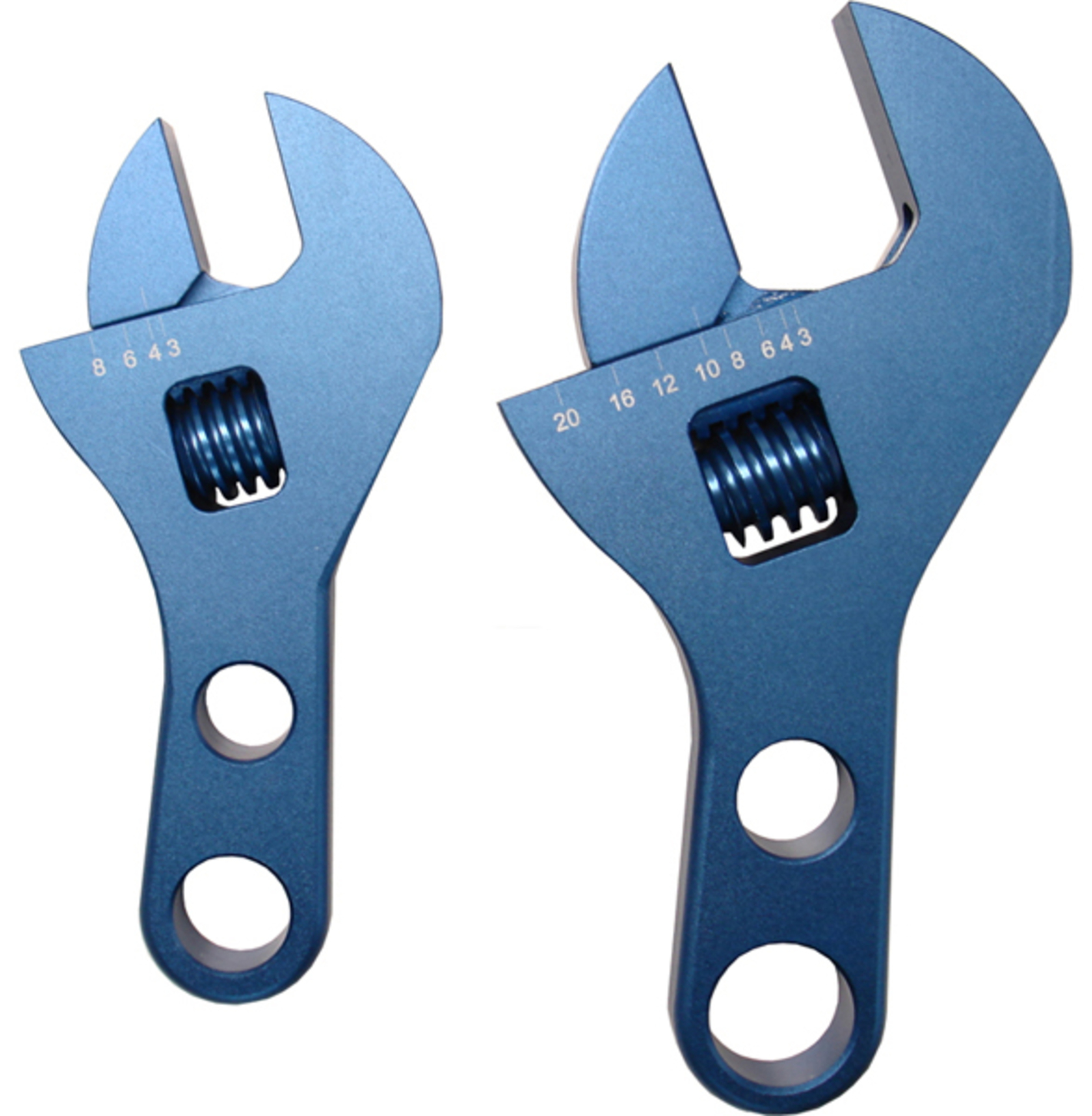 Proform Adjustable AN Fitting Wrench Set Aluminum Compact Stubby Design Blue Anodized Proform