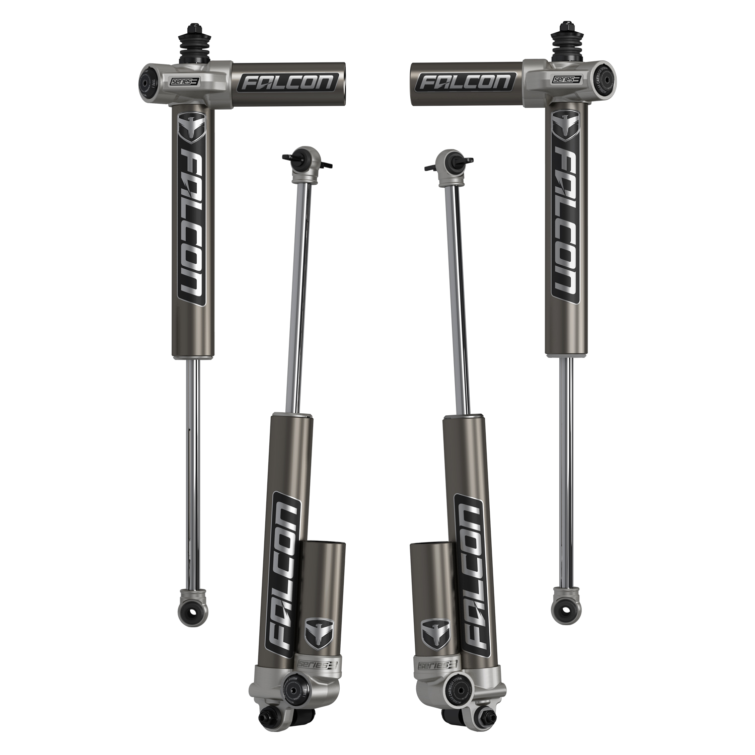 Teraflex Falcon Series 3.1 Piggyback Shocks Front & Rear Kit 1.5-2.5in Lift - JK 4DR