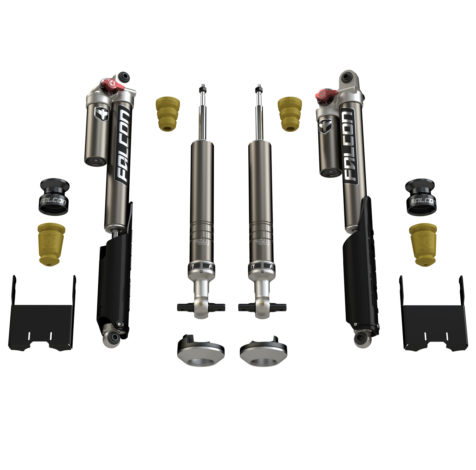 Ford F-150 Shock Leveling Falcon 2.25 Inch Sport Tow/Haul System For 15-Pres Ford F-150 TeraFlex
