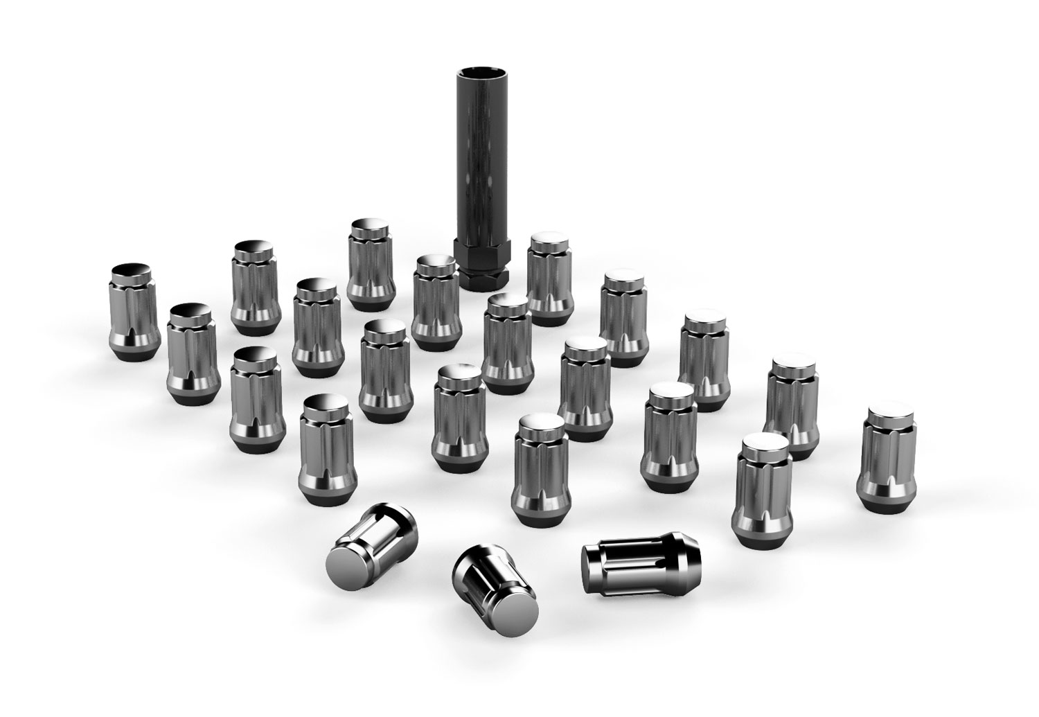 Teraflex Spline Drive Lug Nut Kit 1/2x20 CHROME - 23 PCS - JK/TJ/LJ/YJ/CJ