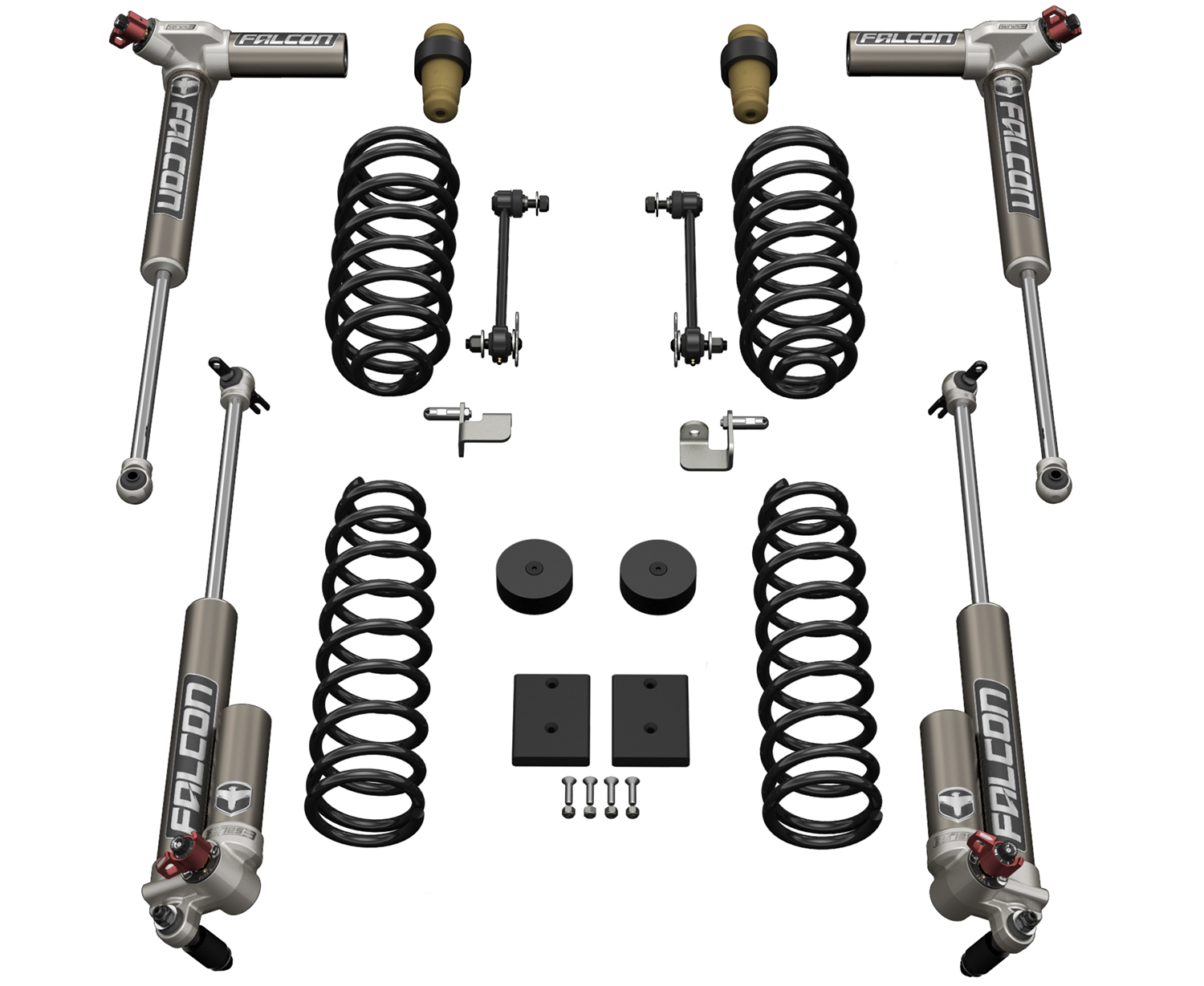 Teraflex 1.5in Sport ST1 Suspension System w/ 3.3 Falcon Shocks - JK 2dr
