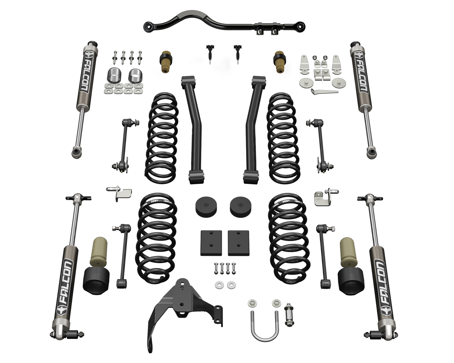 Teraflex 2.5in Sport ST2 Suspension System with 2.1 Falcon Shocks - JK 2Dr