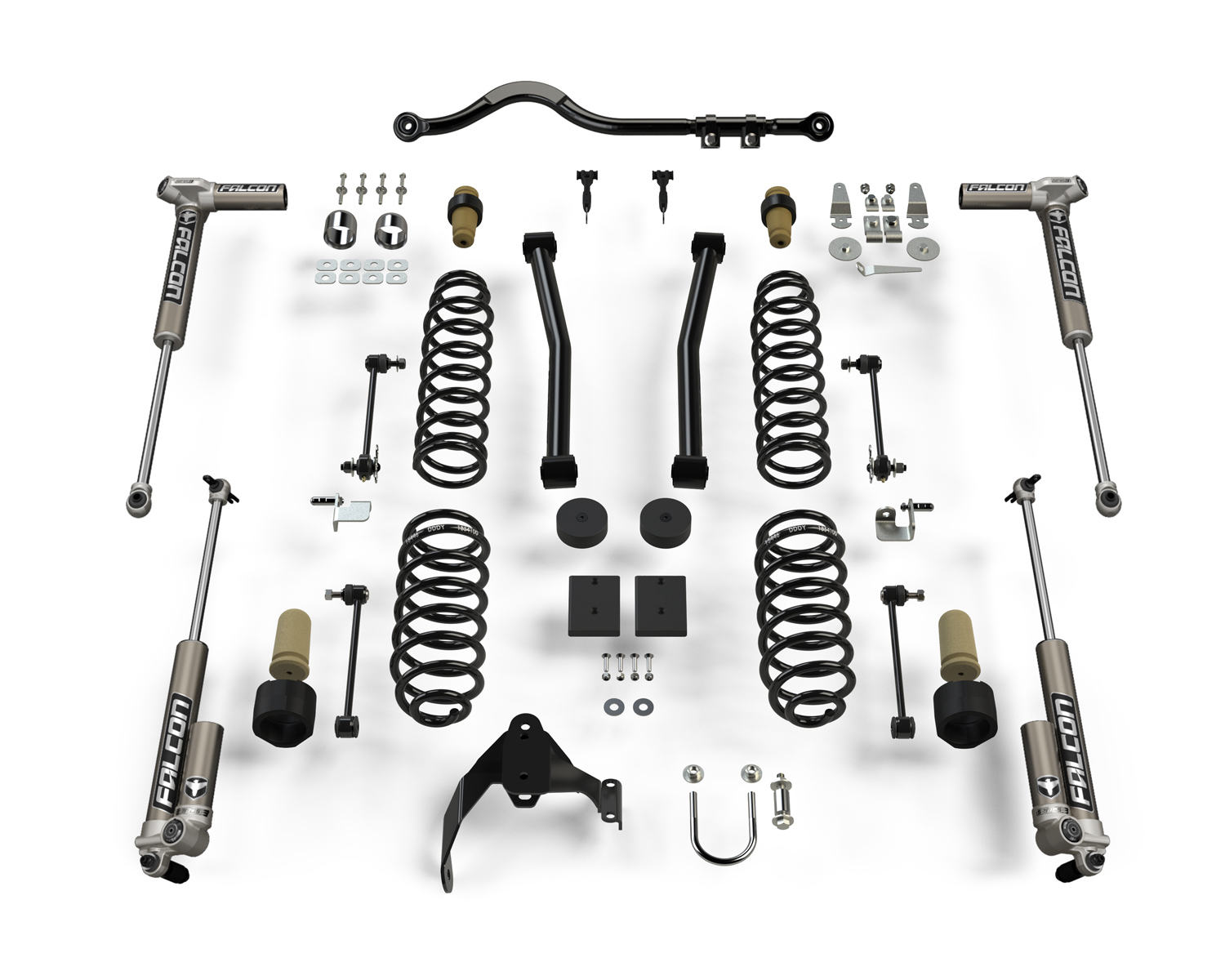 Teraflex 2.5in Sport ST2 Suspension System with 3.1 Falcon Shocks - JK 2Dr