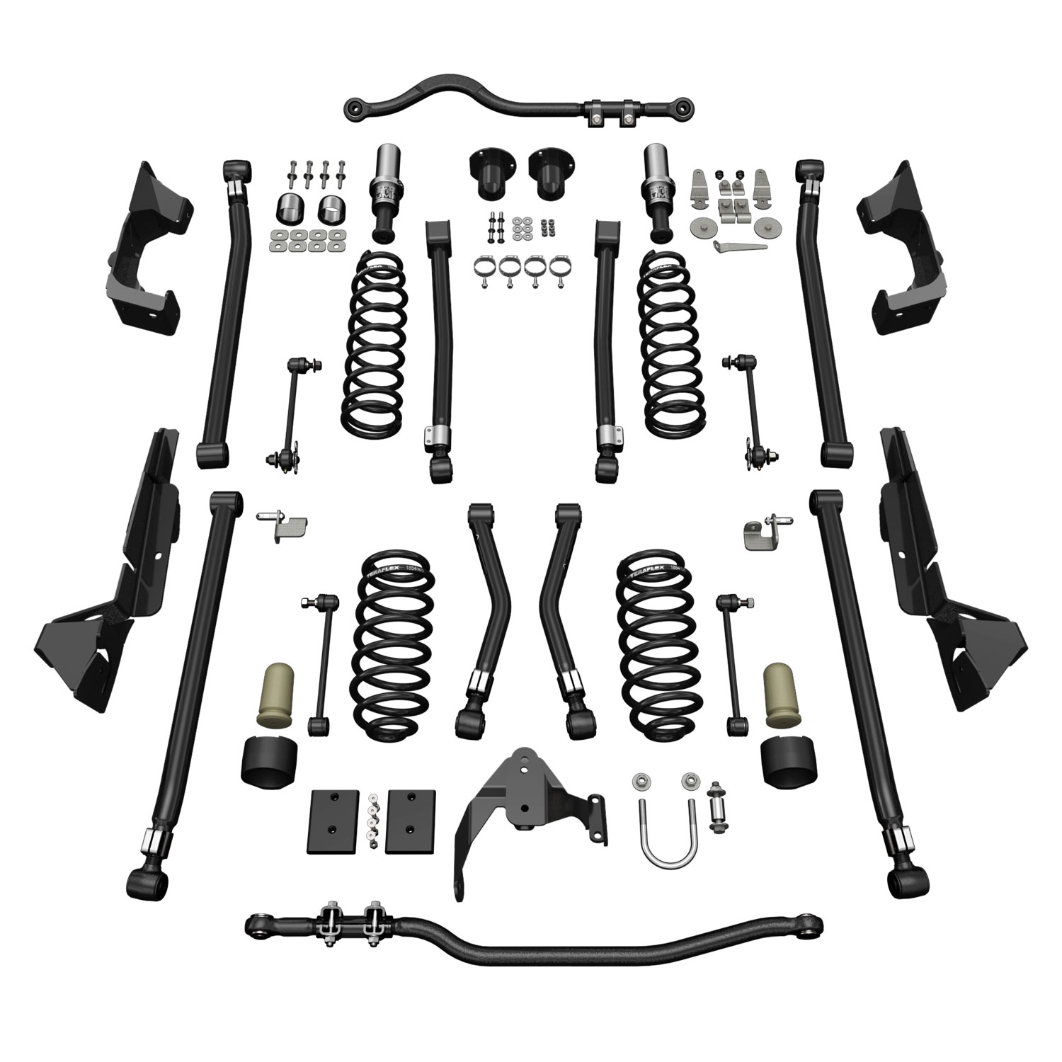 Teraflex Alpine CT4 Suspension System 4in Lift - No Shocks - JK 2DR