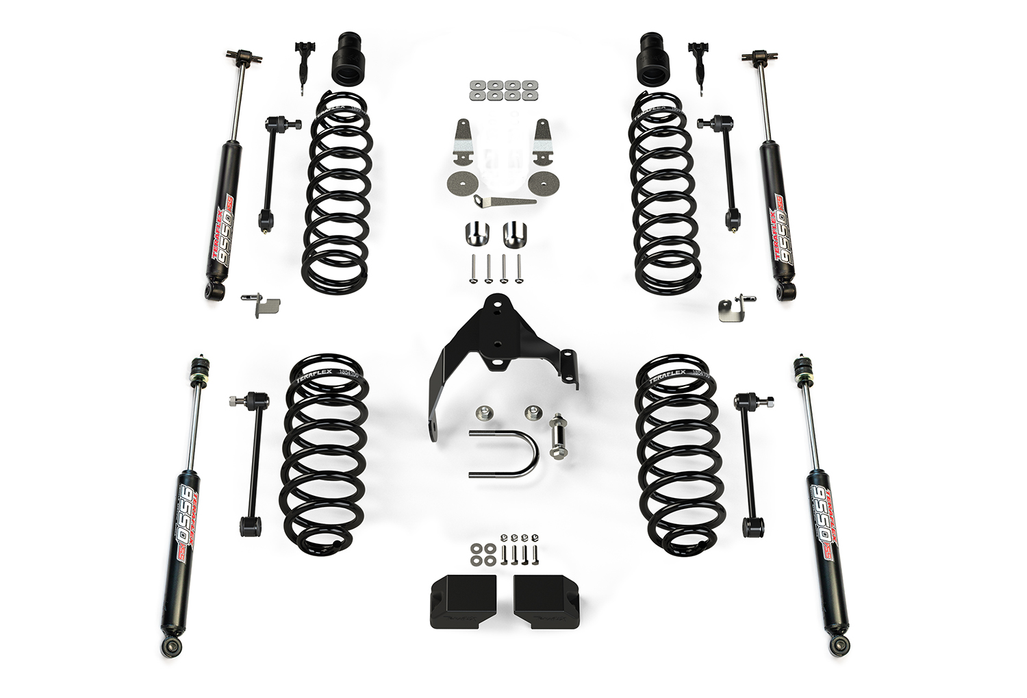 Teraflex 3in Lift Kit, w/9550 Shocks - JK 4DR
