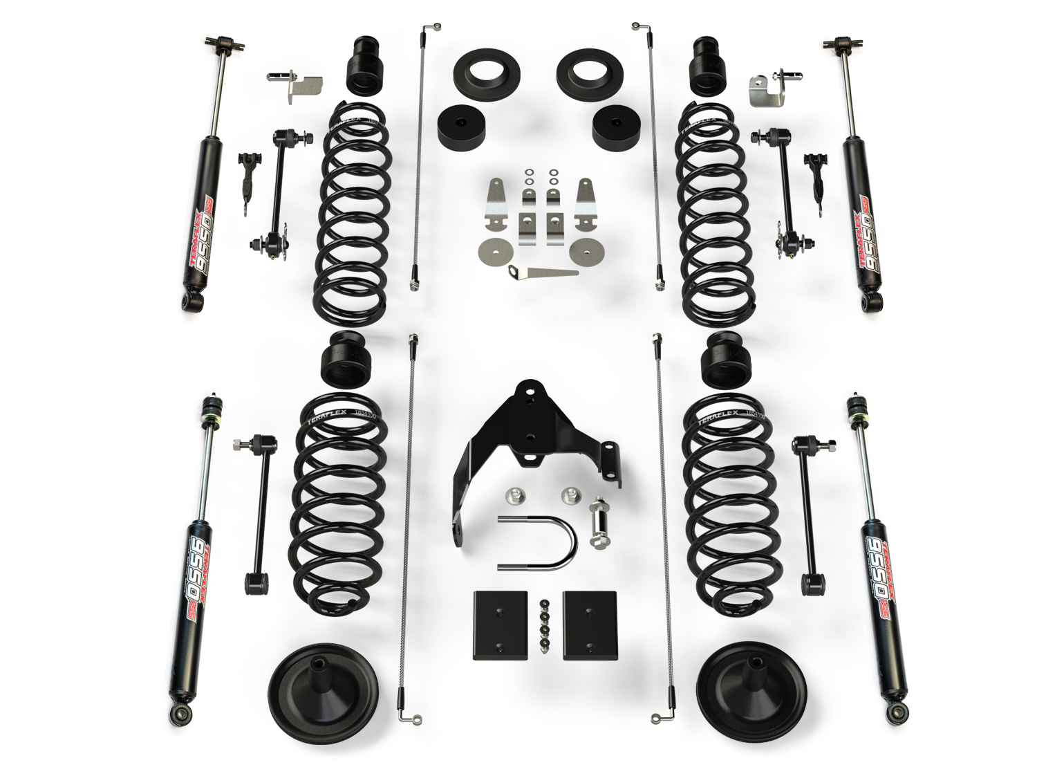 Teraflex 4in Base Lift Kit with 9550 Shocks - JK 2Dr