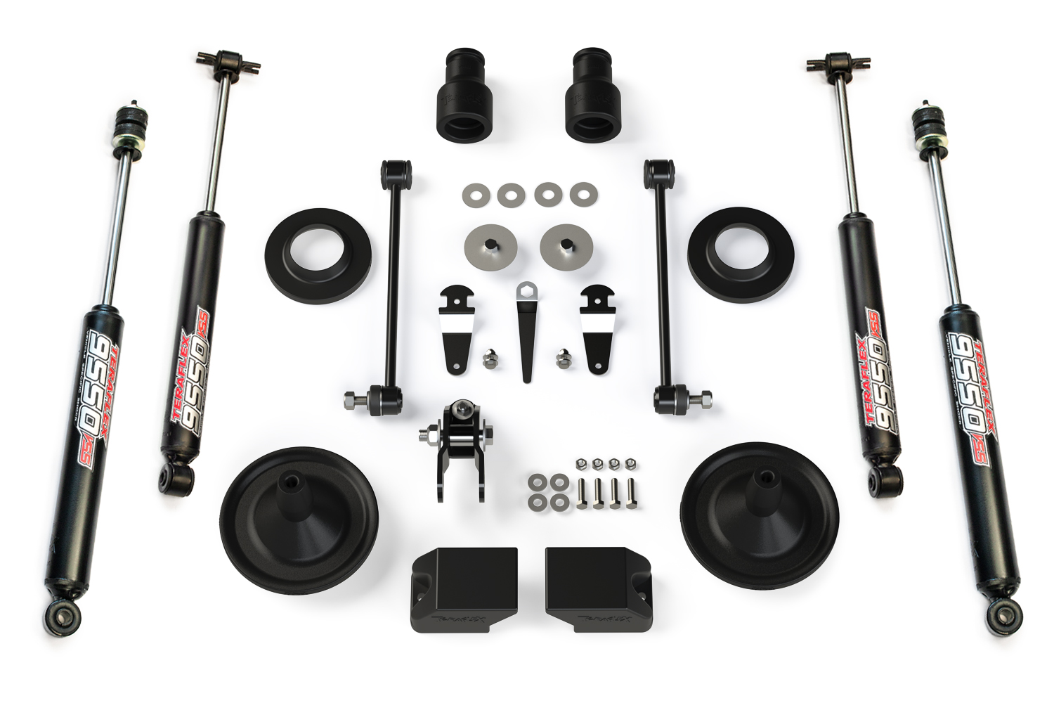 Teraflex Suspension 2.5in Budget Boost Lift Kit, w/ 9550 Shocks  - JK