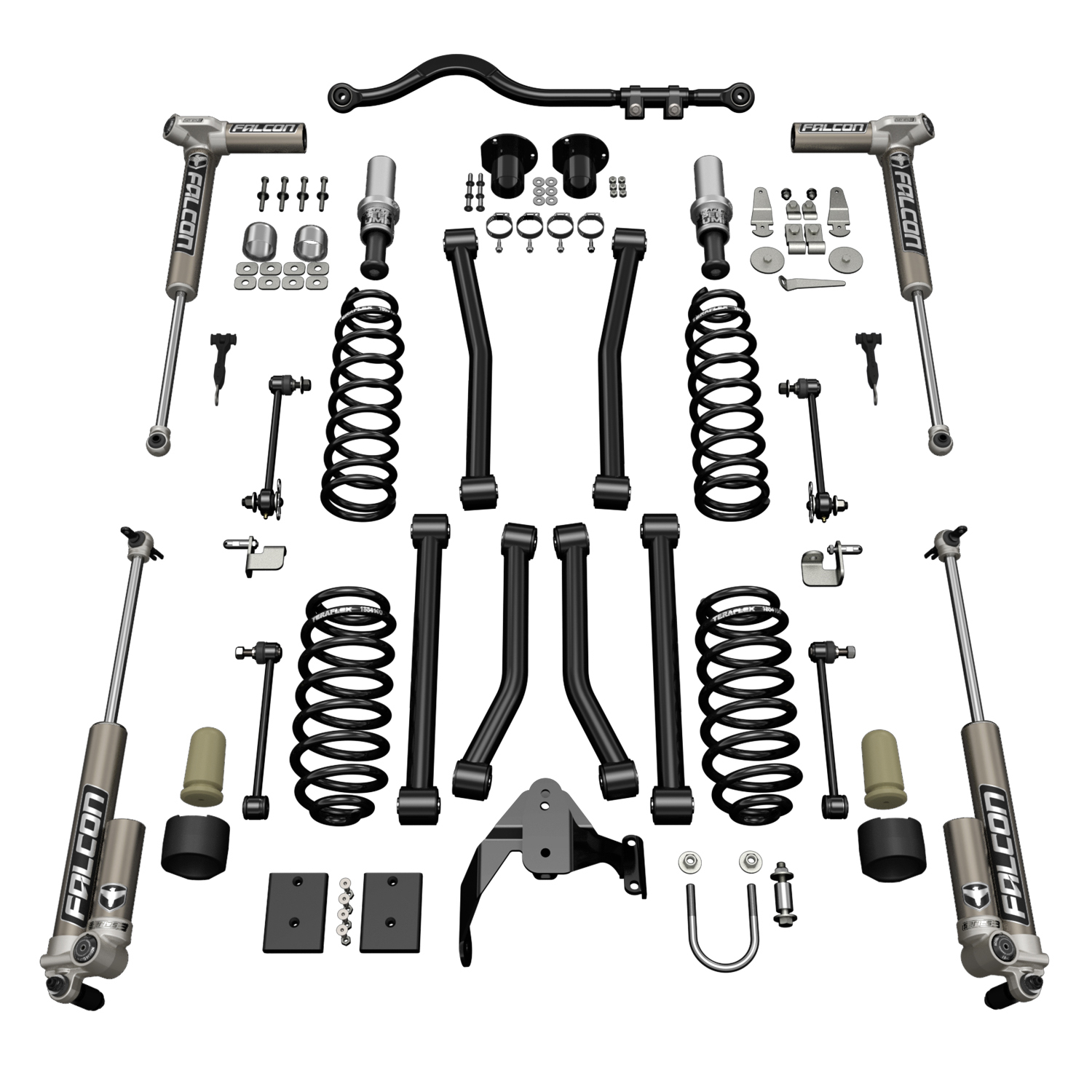 Teraflex 3in Sport S/T3 Suspension System w/ 3.1 Falcon Shocks - JK 4dr