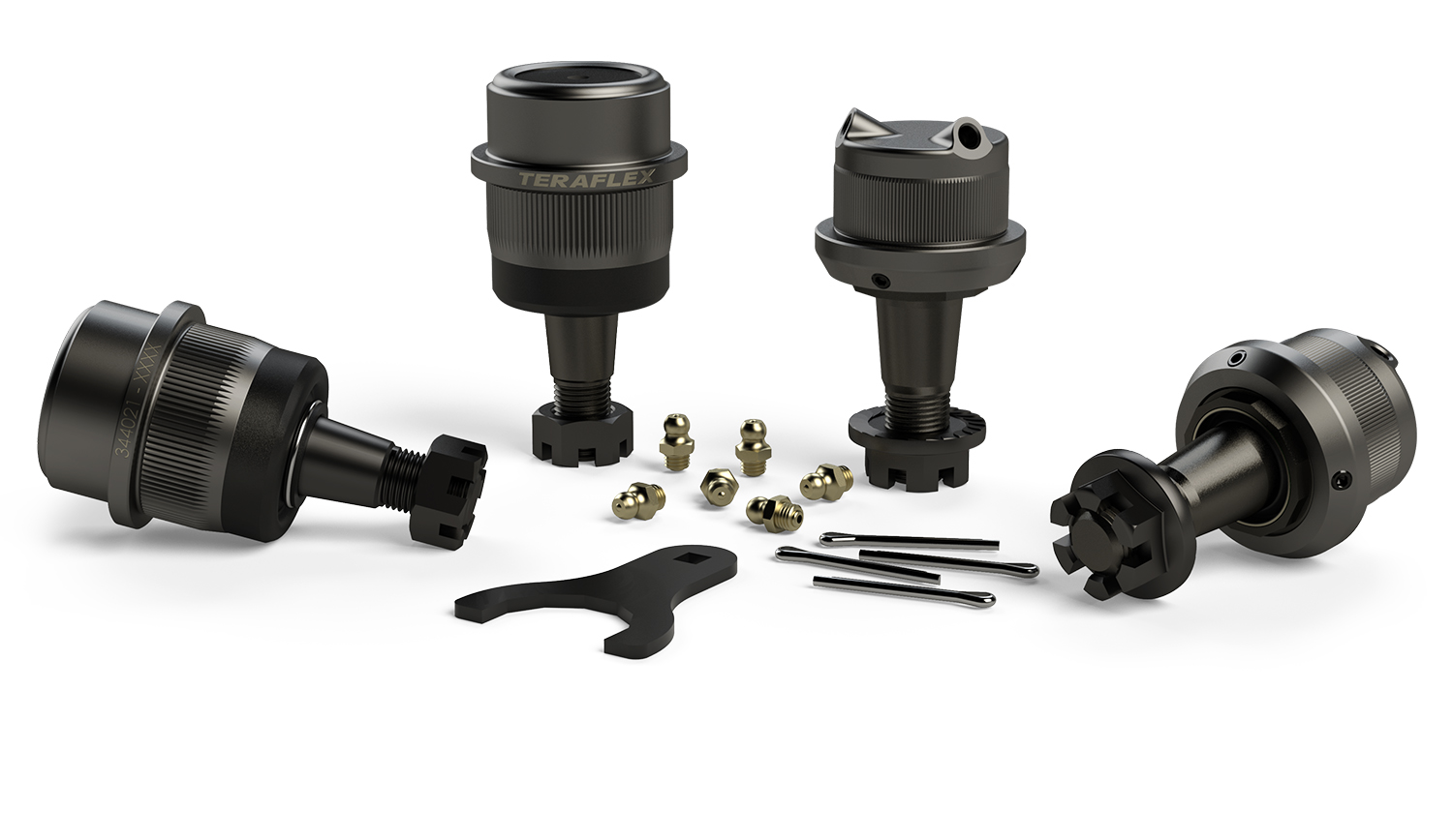 Teraflex HD Dana 30/44 Upper/Lower Ball Joint Kit W/ Knurl - TJ/LJ