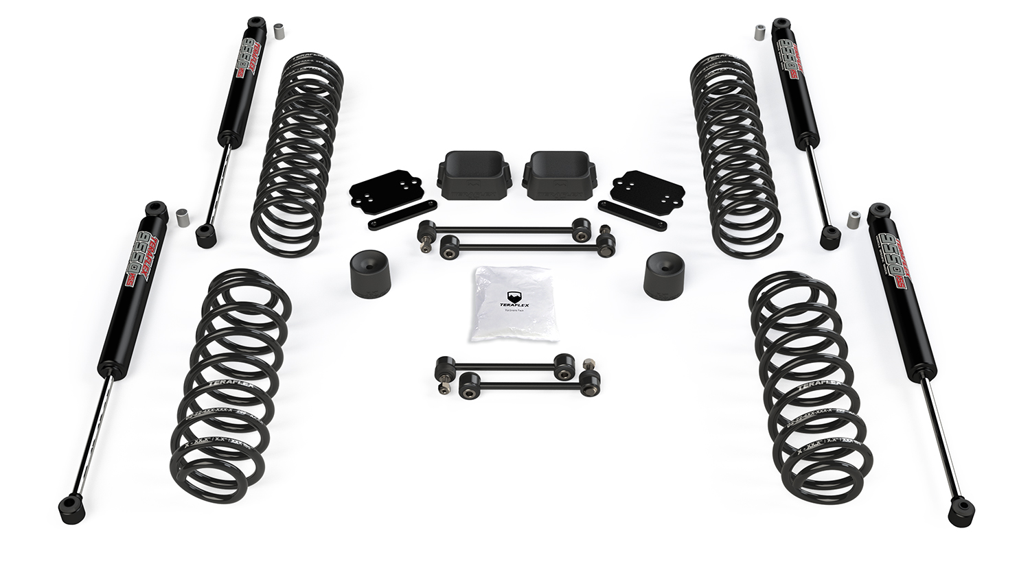 Teraflex 2.5in Coil Spring Base Lift Kit w/ 9550 VSS Twin-Tube Shocks - JL 4Dr
