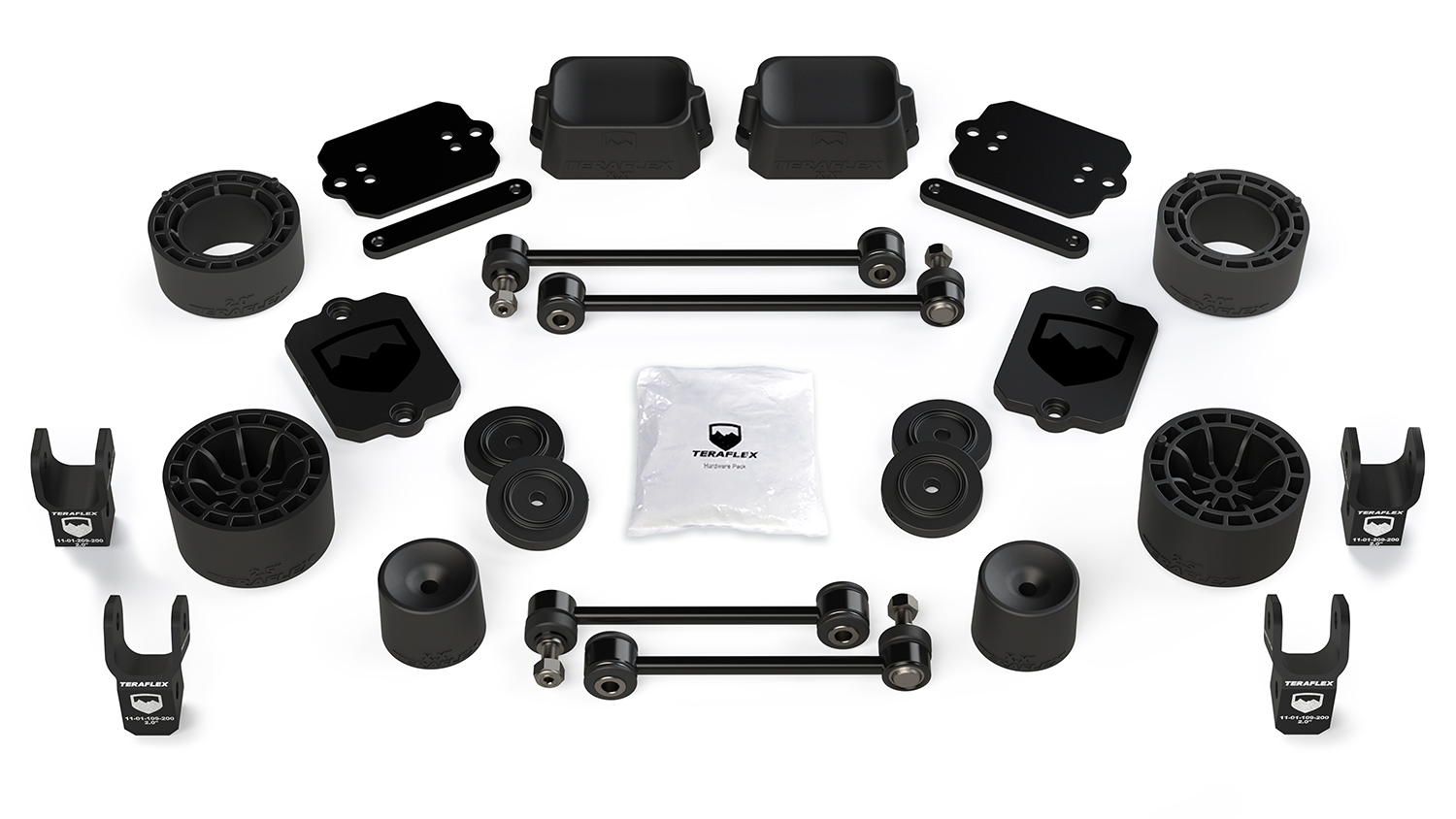 Teraflex 2.5in Performance Spacer Lift Kit w/Shock Extensions - JL 2Dr Sport/Sahara Only