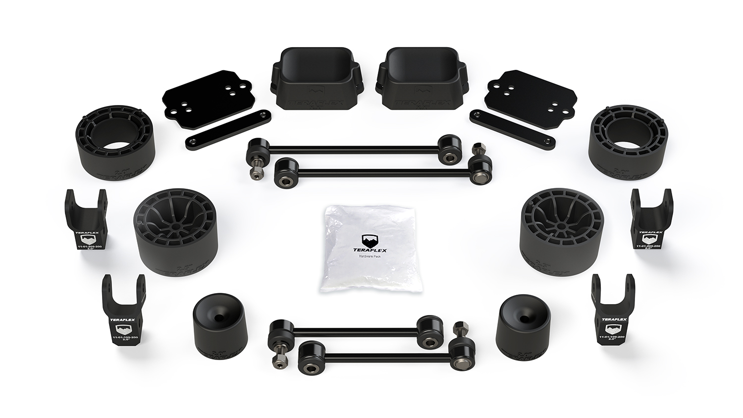 Teraflex 2.5in Performance Spacer Lift Kit w/ Shock Extensions - JL 2Dr Rubicon Only