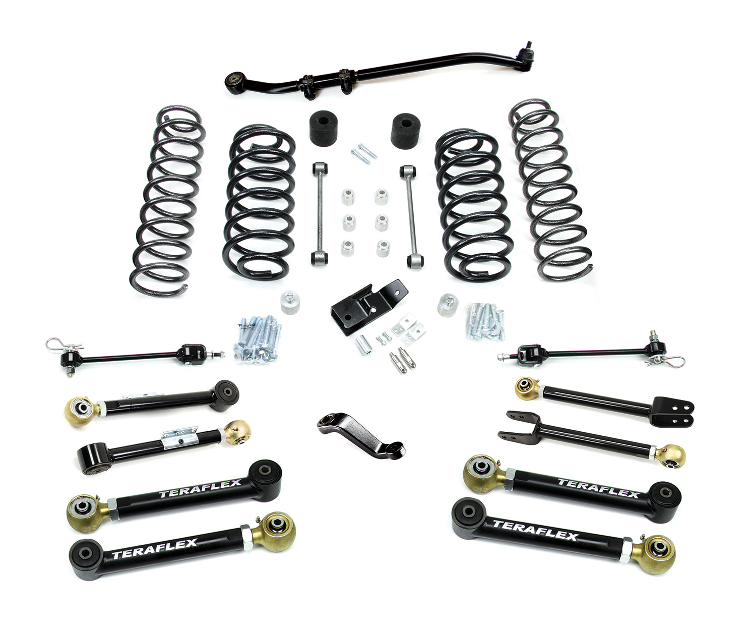 Teraflex 4in Lift Kit W/8 Flexarms & Trackbar - TJ/LJ