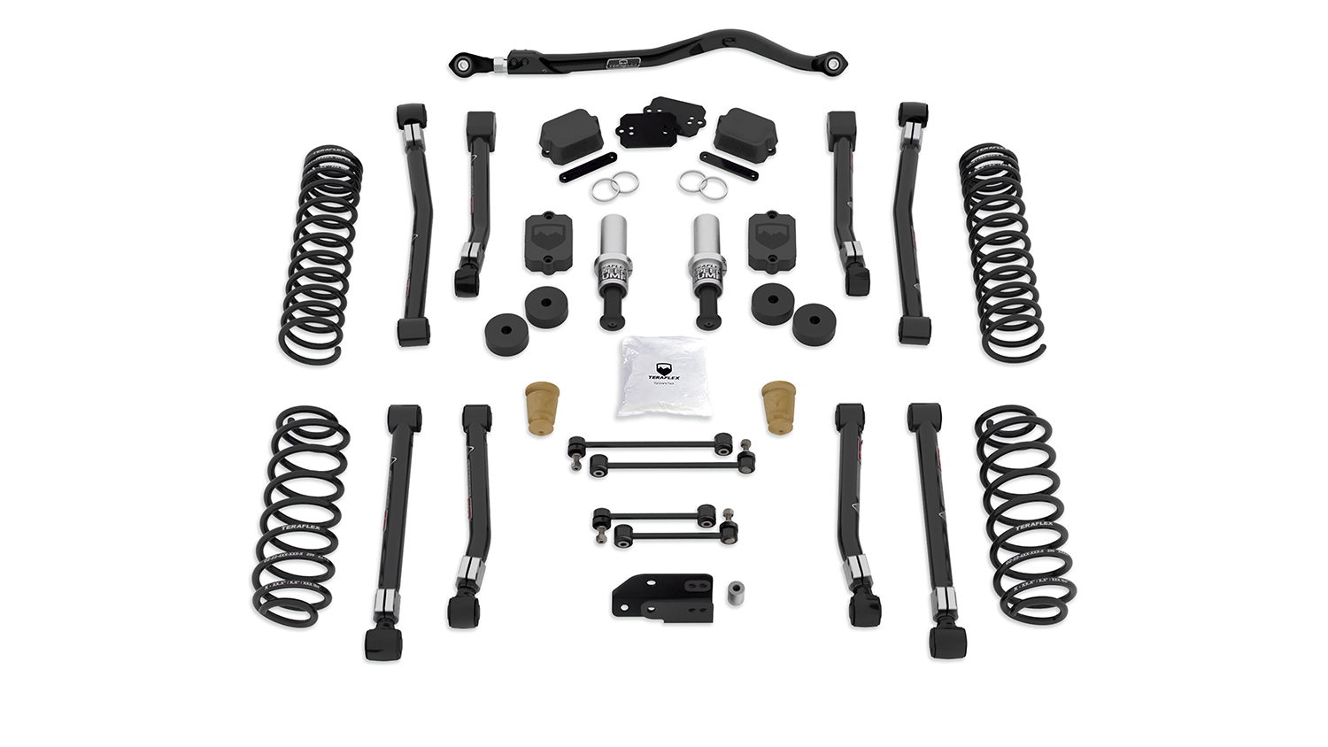 Teraflex 2.5in Alpine RT2 Short Arm Suspension System - No Shocks - JL 4Dr