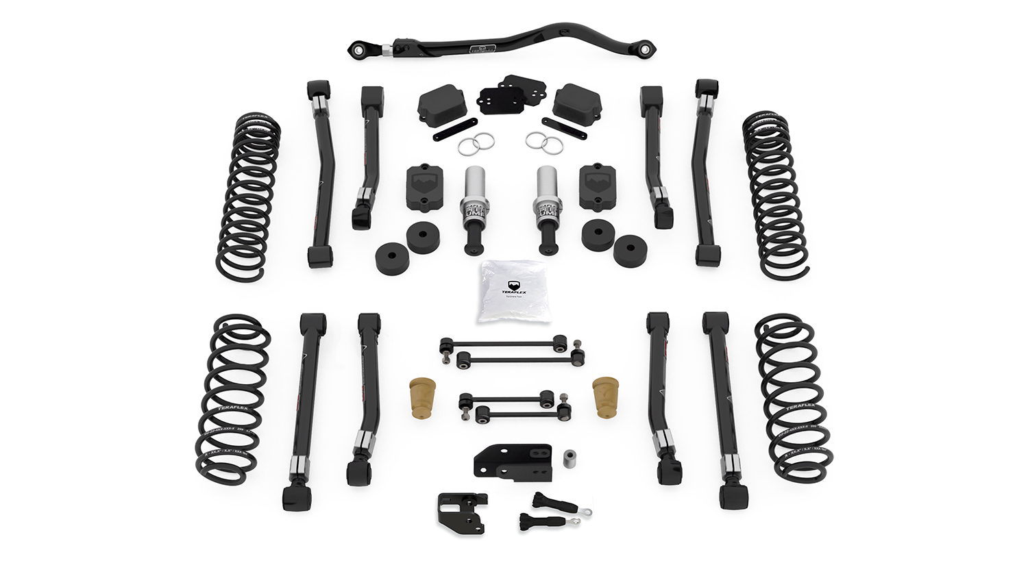 Teraflex 3.5in Alpine RT3 Short Arm Suspension System - No Shocks - JL 4Dr
