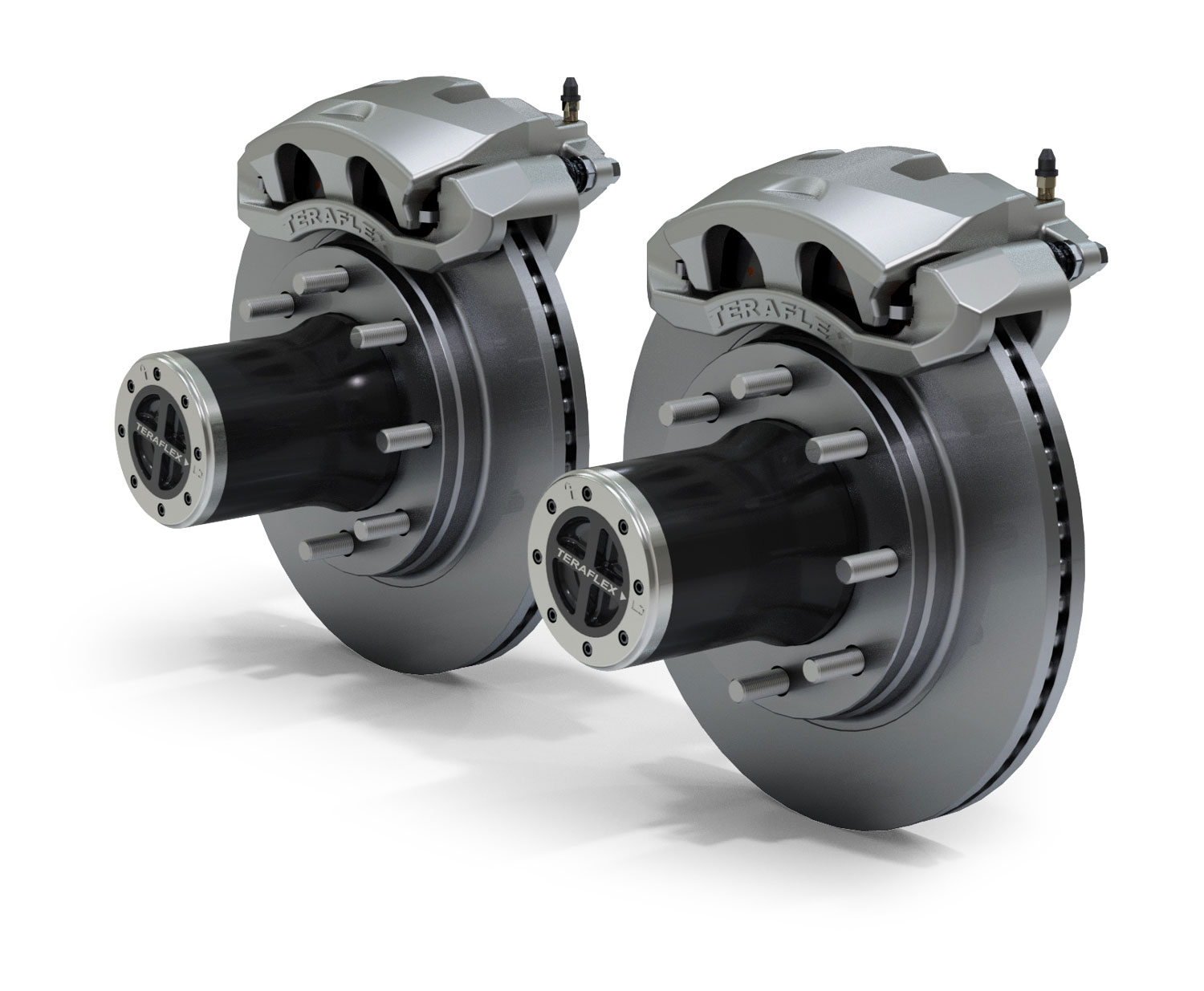 Teraflex JK Front 8-Lug Locking Hub Conversion Kit w/ Big Brakes - JK