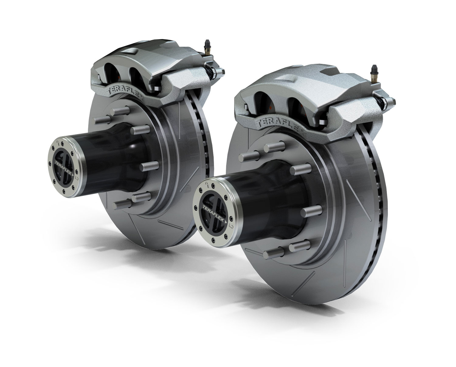 Teraflex JK Front 8-Lug Locking Hub Conversion Kit w/ Big Brakes Slotted Rotors - JK