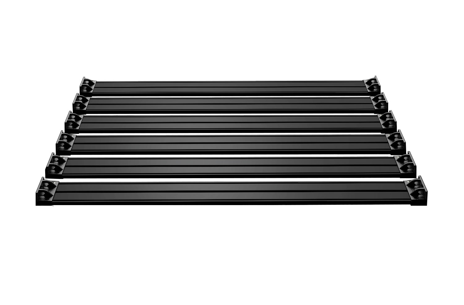 Teraflex Nebo Roof Rack Cargo Slat Kit - Black - JK 4DR