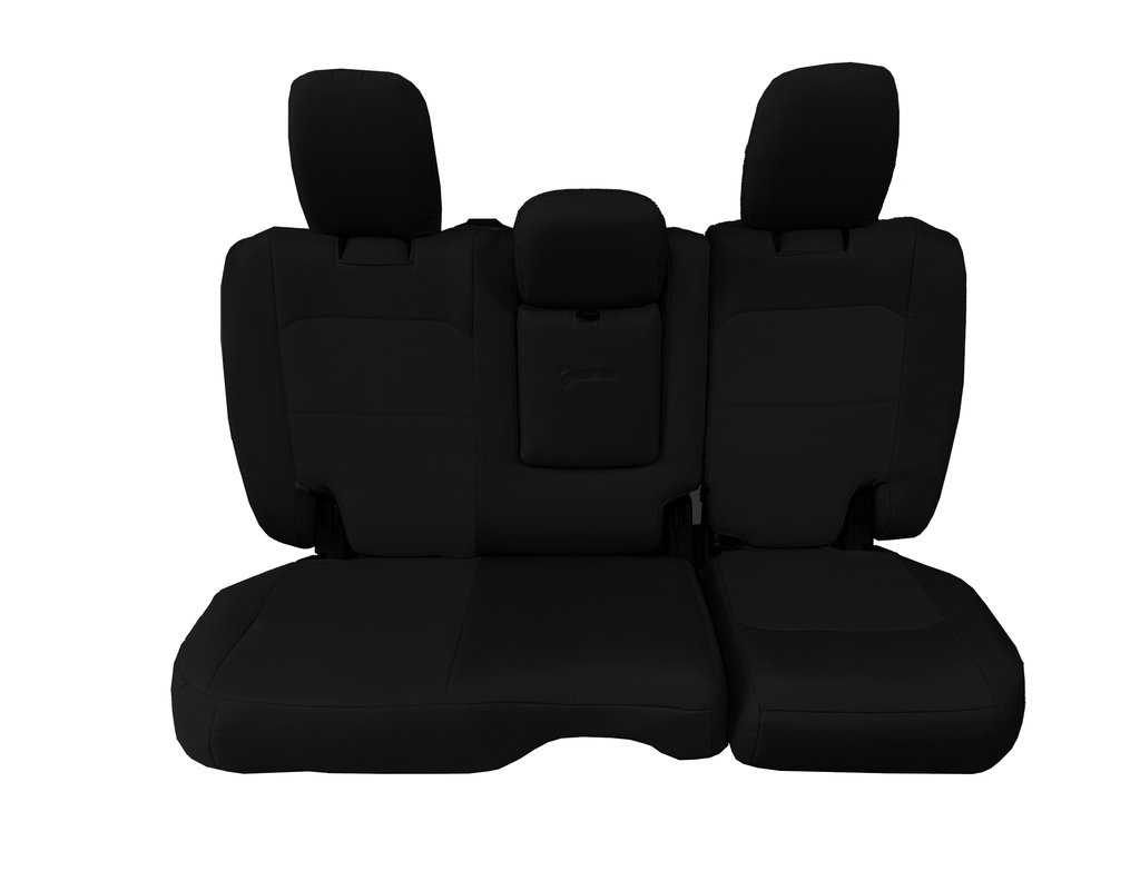 Bartact Tactical Rear Bench Seat Covers 4 Door 18-Present  JL w/ Fold Down Armrest Only Black/Black