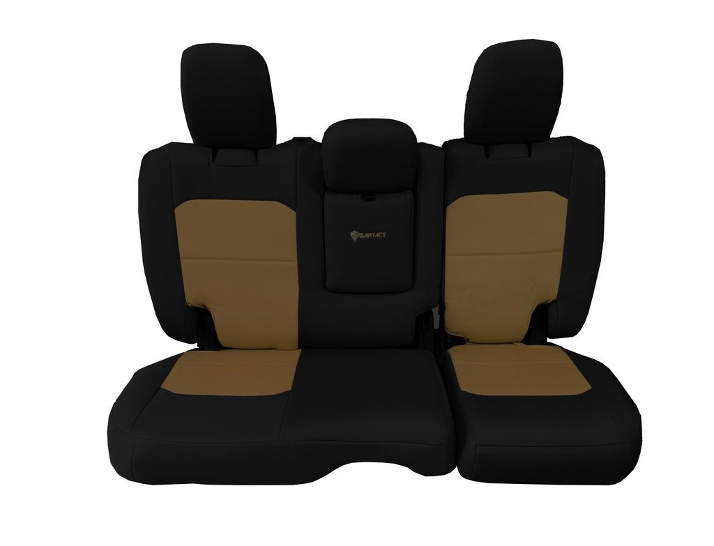 Bartact Tactical Rear Bench Seat Covers 4 Door 18-Present  JL w/ Fold Down Armrest Only Black/Coyote