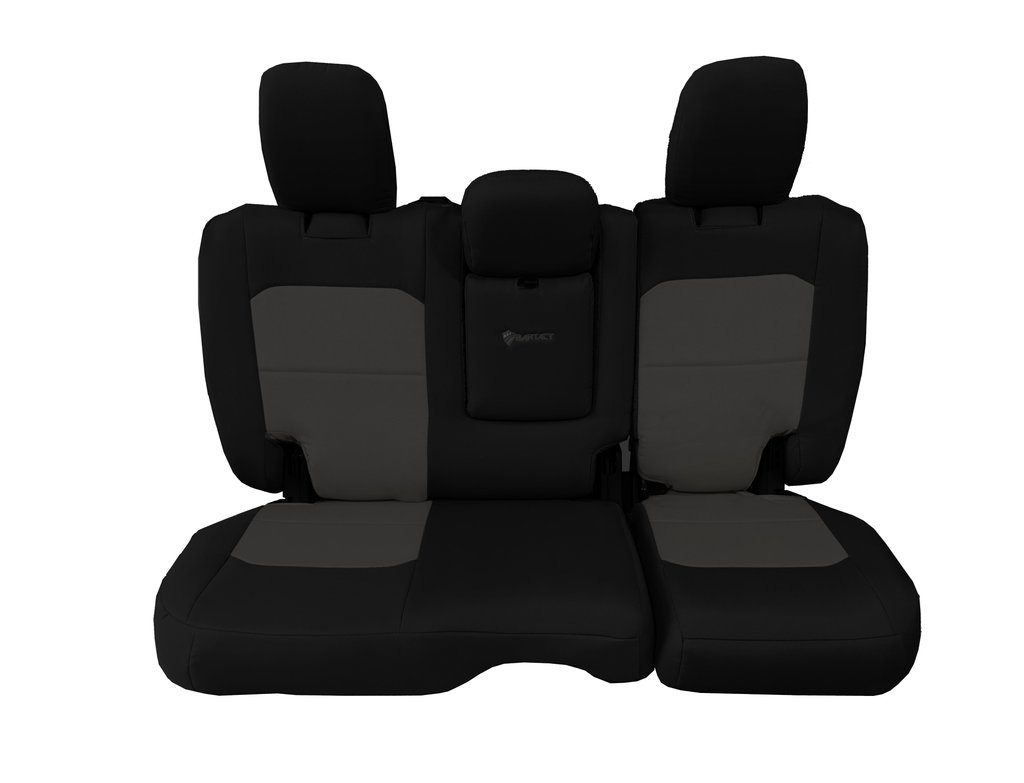 Bartact Tactical Rear Bench Seat Covers 4 Door 18-Present  JL w/ Fold Down Armrest Only Black/Gray