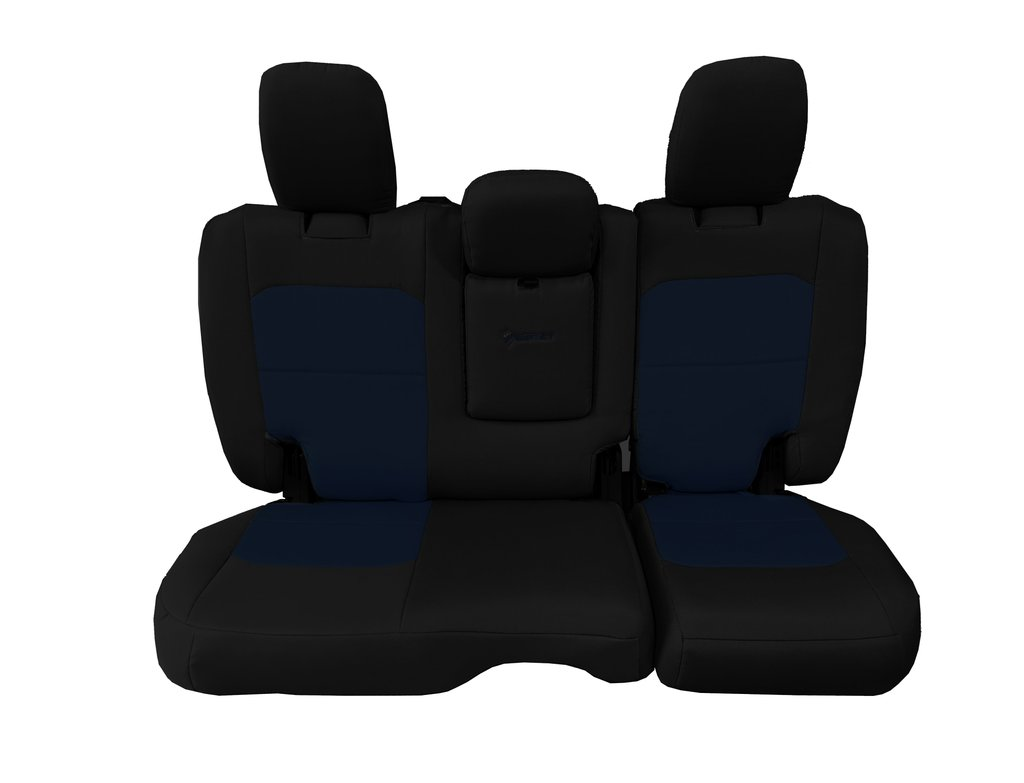 Bartact Tactical Rear Bench Seat Covers 4 Door 18-Present  JL w/ Fold Down Armrest Only Black/Navy