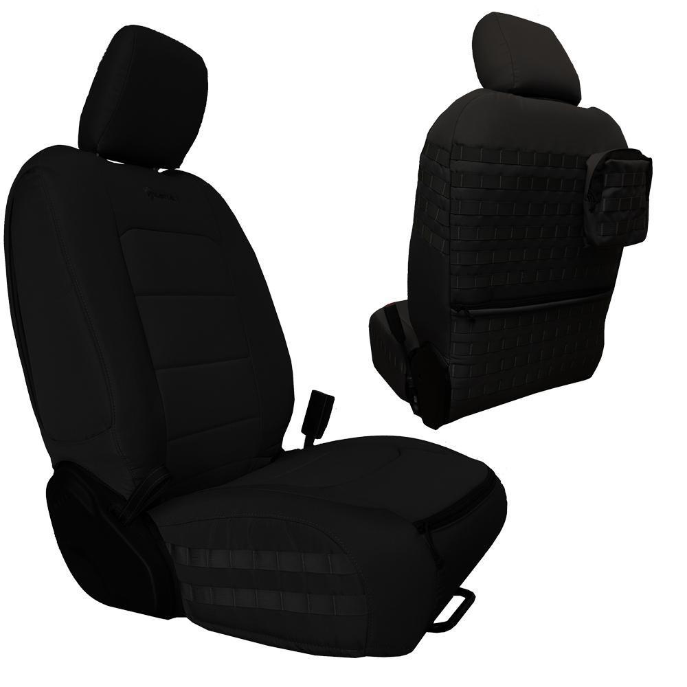 Bartact Tactical Front Seat Covers 18-Present  JL 4 Door Black/Black