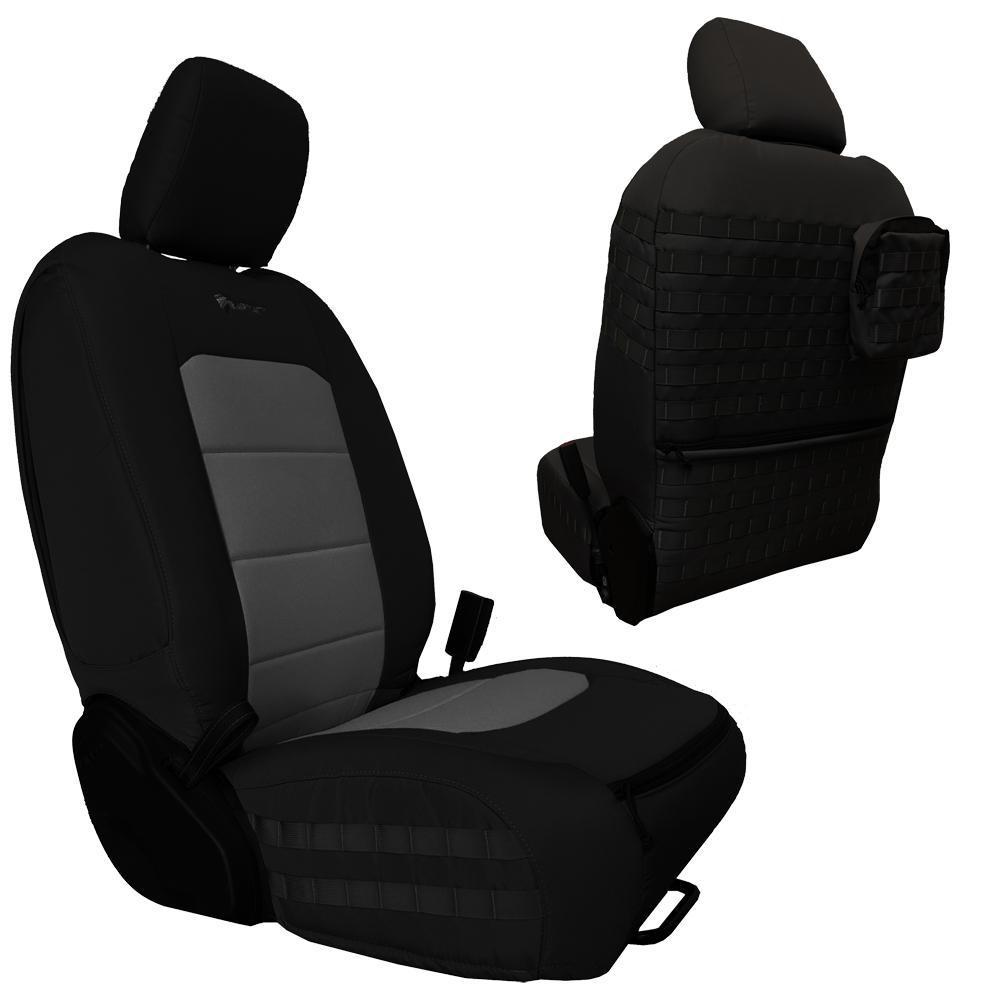 Bartact Tactical Front Seat Covers 18-Present  JL 4 Door Black/Gray